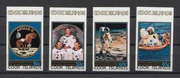 Cook Isl. Space Apollo Moon L'espace Weltraum Mi#624-27B MNH RARE !!! - Space