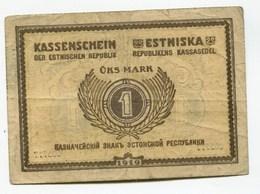 Estonie Estonia 1 Mark 1919 Kassenschein Estniska - Estonie