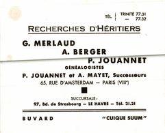 RECHERCHES D HERITIERS  C MERLAUD - Buvards, Protège-cahiers Illustrés