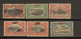 Congo Belge Ocb Nr : 95 - 99 + 98a  * MH (zie  Scan) - 1894-1923 Mols: Mint/hinged