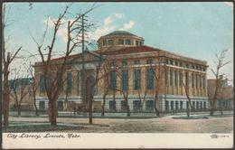 City Library, Lincoln, Nebraska NE, USA, 1908 - IPC&N Co Postcard - Lincoln