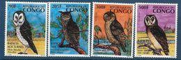 1996 CONGO Brazzaville 1023-26 ** Oiseaux, Rapaces - Congo - Brazzaville