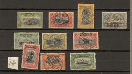 Congo Belge Ocb Nr : 40 - 49 + Var 47 (zie  Scan) Oa 43a Typo - 1894-1923 Mols: Used