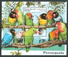 1997 Laos Pappagalli Perroquets Parrots Uccelli Birds Vogel Oisaux MNH** A82 - Laos