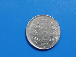India - OFF CENTER - ERROR / MISPRINT Coin - 2011 - 2 RUPEES - Er31 - India