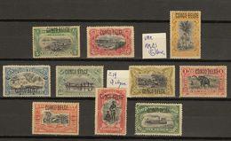 Congo Belge Ocb Nr : 40 - 49 * MH + VAR(zie  Scan) Typo - 1894-1923 Mols: Mint/hinged