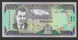 JAMAIQUE - Billet De 100 Dollars  De 1994 - Jamaique