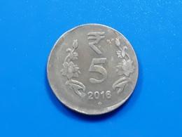 India - OFF CENTER - ERROR / MISPRINT Coin - 2016 - 5 RUPEES - Er35 - India