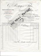 25 - Doubs - PONTARLIER - Facture ROUY - Gruyère Et Emmenthal En Gros - 1917 - REF 86A - France