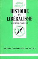 Histoire Du Libéralisme Par Flamant (ISBN 2130450229 EAN 9782130450221) - History