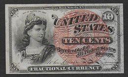 ETATS UNIS - Billet De 10 Cents  De 1863 - Fractional Currency (1862-1875)