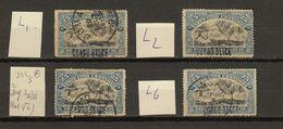 Congo Belge Ocb Nr : 33 + 33a L  (zie  Scan) - 1894-1923 Mols: Used