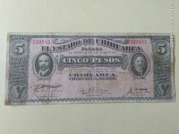 5 Pesos 1914 - Mexique