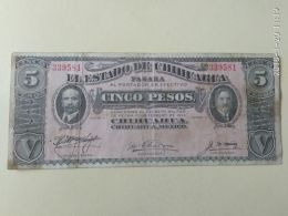 5 Pesos 1914 - Mexico