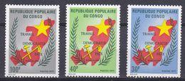 Congo - 1971- N°Yv 315 à 317 Travail, Démocratie, Paix N* MH - Congo - Brazzaville