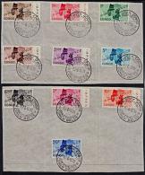 Cb0003 CONGO (Kinshasa) 1960, SG 392-401 Independence, First Day Cancellation On Pieces - Republic Of Congo (1960-64)