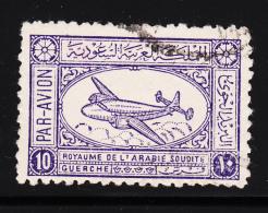 Saudi Arabia 1949-58 Used Scott #C4 10g Airspeed Ambassador Airliner - Arabie Saoudite