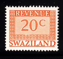 Swaziland 1975-77 MNH 20c Orange Revenue - Swaziland (1968-...)