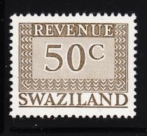Swaziland 1975-77 MNH 50c Grey-brown Revenue - Swaziland (1968-...)