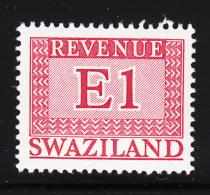 Swaziland 1975-77 MNH E1 Red Revenue - Swaziland (1968-...)