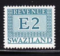 Swaziland 1975-77 MNH E2 Blue-green Revenue - Swaziland (1968-...)