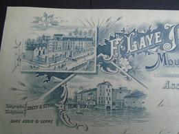 ASSIS SUR SERRE - AISNE / MOULIN A CYLINDRES / F. LAYE JEUNE / BELLE ILLUSTRATION / 1910 - Unclassified
