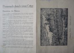 60 - Dépliant Cartonné  CREPY - EN-VALOIS - Promenade Et Plan Du Vieux CREPY  - SAINT ARNOUL - Dépliants Turistici