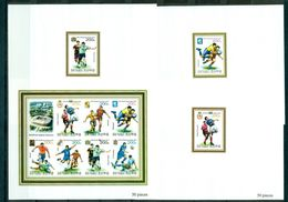 North Korea 2011 World Cup 2018, 8 Lux Blocks  КНДР, 2011, Футбол, ЧМ 2018, 8 Люкс-блоков - Coupe Du Monde