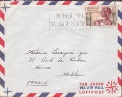 ENVELOPPE   TIMBRE     PAR AVION 1963 POINTE NOIRE VOIR PHOTO - Republic Of Congo (1960-64)