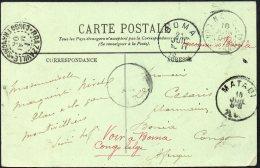France Congo Boma Erreur De Routage Bonia Congo Français Brazzaville Redirigé Vers Boma Via Matadi 1908 - TL2 - Belgian Congo
