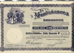 LA MONTANANESA ZARAGOZA 1946 - Industrie