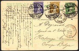 Suisse Helvetia Entier Postal Berne Vers Congo Stanleyville Via Léopoldville Lisboa 1911 - TL2 - Belgian Congo