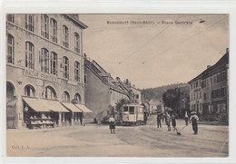 Beaucourt - Place Centrale Avec Tram - Bazar Parisien - 1907           (A-66-100416) - Beaucourt