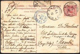 Italie Vers Congo Via Lisboa Léopoldville 1907 - TL2 - Belgian Congo