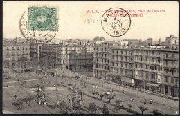 Bercelona Espagne Espana Vers Congo Boma Via Matadi 1909 - TL2 - Belgian Congo