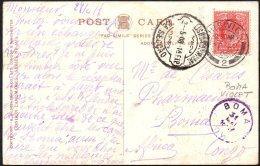 UK Angleterre Vers Congo Boma En Violet (RR) Via Lisboa - 1908 - TL2 - Belgian Congo