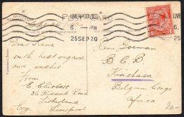 UK Angleterre Liverpool Vers Congo Kinshasa - 1920 - TL2 - Belgian Congo