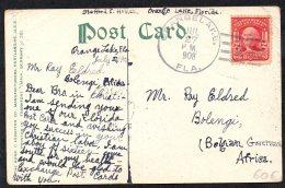 USA Orangelake Vers Congo Via Léopoldville 1908 - TL2 - Belgian Congo