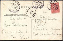 France Paris Vers Congo Zobe Via Luali Boma - 1908 - TL2 - Belgian Congo