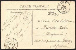 France Paris Vers Congo Zobe Via Libreville (GABON) Luali Boma - 1907 - TL2 - Belgian Congo