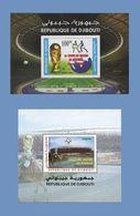 DJIBOUTI ¤ OFFER ¤ 2005 2010 SOCCER WORLD CUP FUSSBALL WELT MEISTERSCHAFT 2 S/S 2006 GERMANY 2010 & SOUTH AFRICA MNH ** - Djibouti (1977-...)