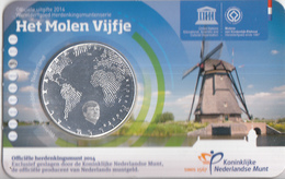 Nederland - Herdenkingsmunt - Het Molen Vijfje - Coincard - Paises Bajos