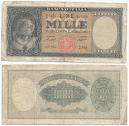 Italia - Italy 1.000 Lire 1959 Pick 88.c Ref 276 - [ 1] …-1946 : Kingdom