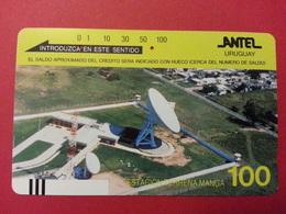 URUGUAY Antel Tamura - 100u Estacion Terrena Manga With Front Barcode - Used - Uruguay