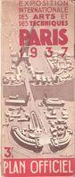 PLAN OFFICIEL EXPOSITION INTERNATIONALE ARTS ET TECHNIQUES PARIS 1937 - Dépliants Turistici