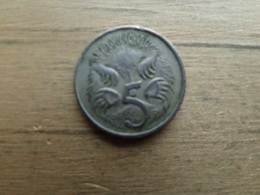 Australie  5  Cents   1966  Km  64 - Monnaie Décimale (1966-...)
