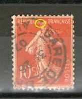 N°135c°_type III_papier Fin GC_cachet De Gare 1907 - 1906-38 Sower - Cameo