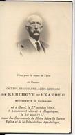 Octave De Kerchove D'Exaerde Burgemeester Buizingen Halle °1868 Gand +1937 Goethals Terlinden Surmont De Volsberghe - Avvisi Di Necrologio