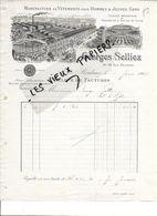 59 - Nord - ROUBAIX - Facture SELLIEZ - Manufacture De Vêtements - 1905 - REF 86A - 1900 – 1949