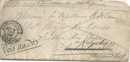 Enveloppe Du Corps Expéditionnaire De Madagascar Pour Marseille Puis Avranches - Marcophilie (Lettres)